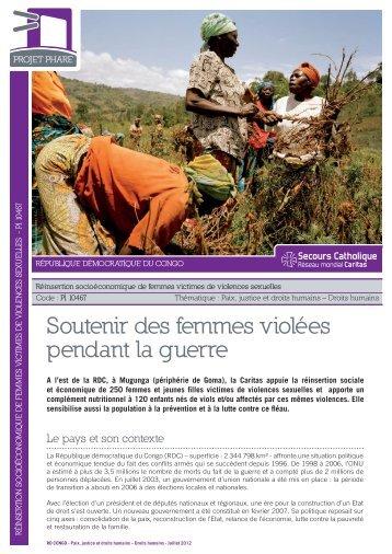 Fiche projet phare RDC PI 10467 - Secours Catholique