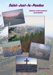 Bulletin Municipal 2008 - Saint-Just-la-Pendue