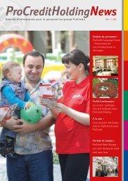 No. 1-08 Bulletin d'informations pour le ... - ProCredit Holding