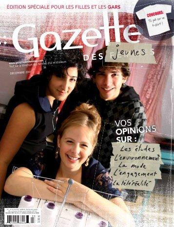 Gazette des jeunes - CAMEO – Outaouais