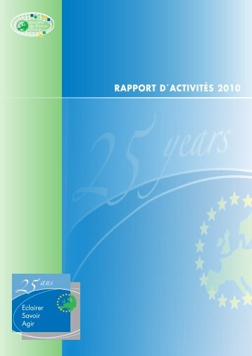 RAPPORT D´ACTIVITÉS 2010 - Assembly of European Regions