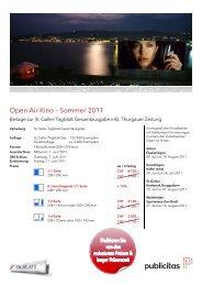 Open Air Kino – Sommer 2011 - Publicitas AG