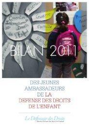 Retrouvez le rapport Jeunes Ambassadeurs du Défenseur des ...