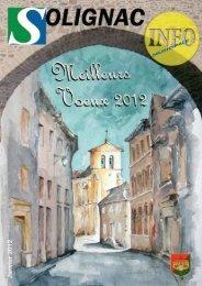 couverture janvier 2012 - Solignac