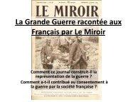 La Grande Guerre racontée aux Français par Le Miroir - Cannes