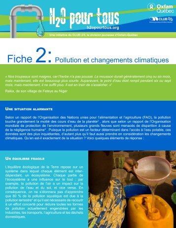 Fiche 2:Pollution et changements climatiques - Oxfam-Québec