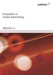 Innovation in media advertising. - Publicitas AG