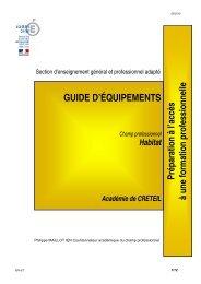 SEGPA - Guide d'équipements Habitat - Académie de Créteil
