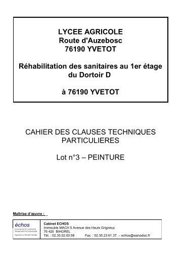 LYCEE AGRICOLE Route d'Auzebosc 76190 ... - LEGTA YVETOT