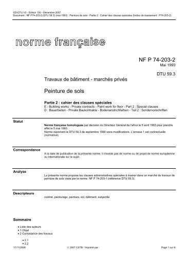 Nf p63 203 1 1 dtu 51 3 - Nf dtu 24 1 ...