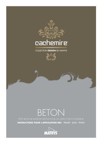Cachemire BETON application