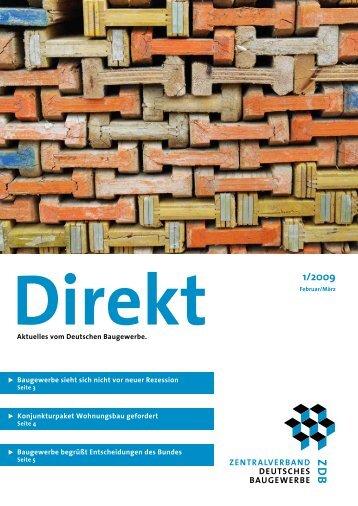 ZDB Direkt 1-2009.pdf - Zentralverband Deutsches Baugewerbe