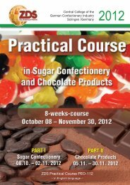 PART I Sugar Confectionery 08.10. – 02.11. 2012 PART II ... - ZDS