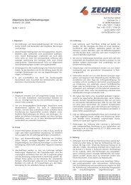 Allgemeine Geschäftsbedingungen Stand 01.01.2004 Seite ... - Zecher