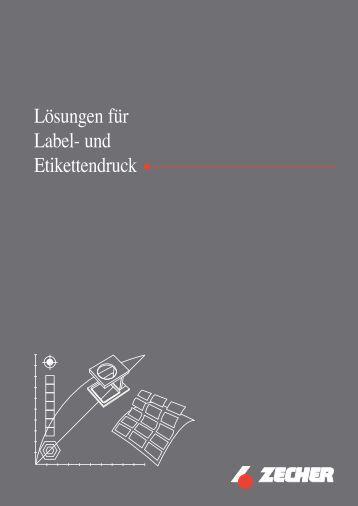 Lösungen für Label- und Etikettendruck - Zecher