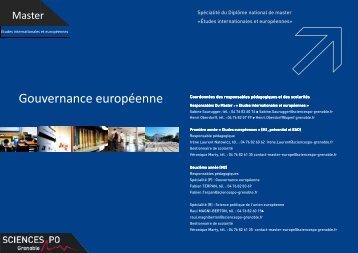 Gouvernance européenne - Sciences Po Grenoble