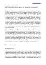 Josep Maria BATISTA i ROCA LA CATALOGNE ET LES LES ...