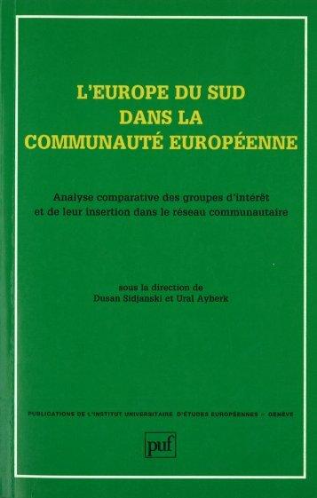 L'Europe du Sud dans la Communauté européenne - Dusan Sidjanski