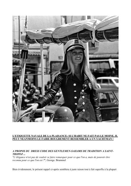 b8e3846baef Dress code ds Gentlemen-Sailors de Tradition St Tropez