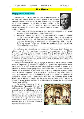 II - Platon - IES Miguel de Molinos