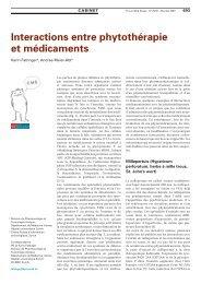 Interactions entre phytothérapie et médicaments - Swiss Medical Forum