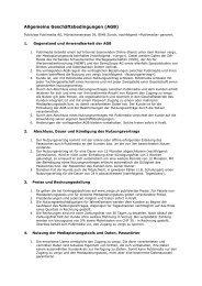 Allgemeine Geschäftsbedingungen (AGB) - Publicitas AG