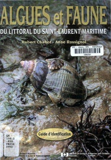 Algues et Faune du littoral du saint-laurent maritime - Pêches et ...