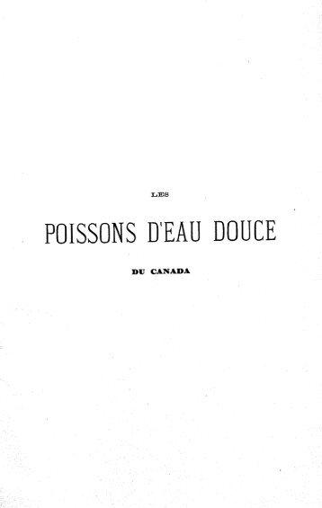 _ POISSONS D'EAU DOUCE ' - BAnQ