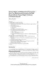 Human Rights and Multinational Enterprises - Zeitschrift für ...