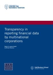 Transparency in reporting financial data by multinational corporations