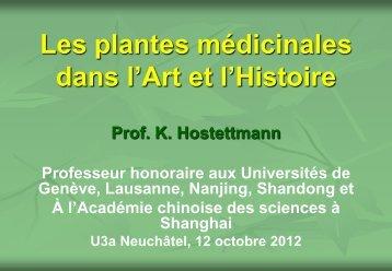 Les plantes médicinales dans l'Art et l'Histoire - Université de ...