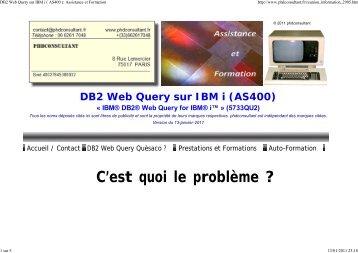 Télécharger un pdf de cette page - DB2 Web Query sur IBM i