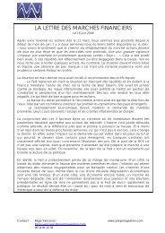 la lettre des marches financiers - Efigest Asset Management