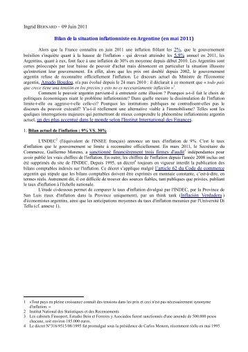 SITUACION INFLACIONARIA ARGENTINA - Opalc