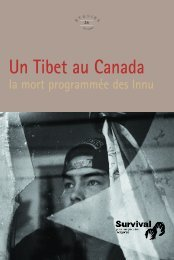 Un Tibet au Canada - Survival International