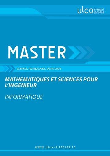 Master Informatique - Université du Littoral-Côte-d'Opale