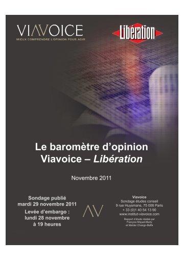 Télécharger en pdf le Sondage Viavoice - Libération novembre