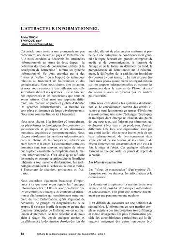 L'ATTRACTEUR INFORMATIONNEL - ABD-BVD