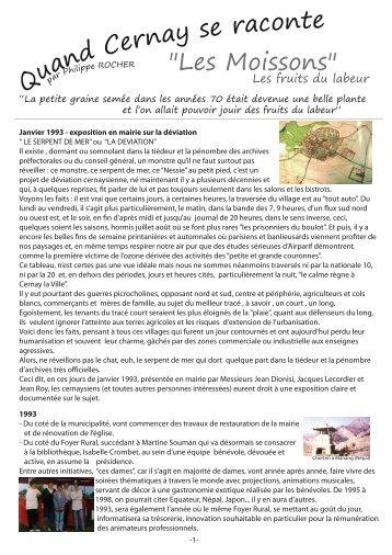 "u Cernay se raconte ""Les Moissons"" - Cernay-la-Ville"
