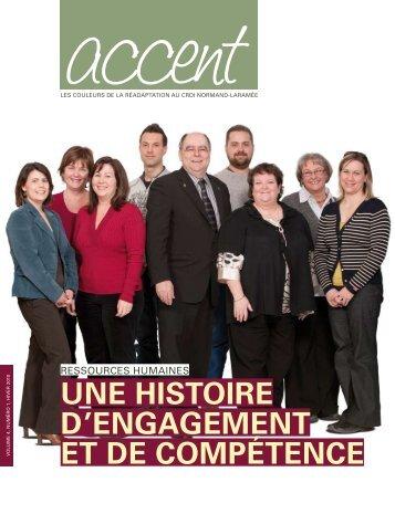 Revue Accent, Vol. 4 No 1, Hiver 2010 - CRDI Normand-Laramée