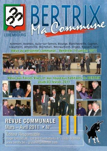 Revue Communale de Bertrix n° 111