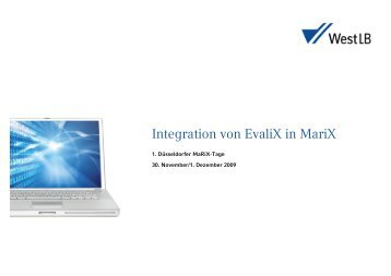 Integration von EvaliX in MariX