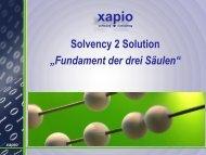 "Solvency 2 Solution ""Fundament der drei Säulen"""