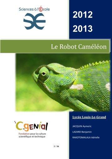 Robot caméléon - Sciences à l'Ecole