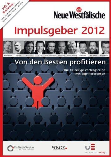 Impulsgeber 2012 - Unternehmen Erfolg