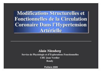 Modifications Structurelles et Fonctionnelles de la ... - SFHTA