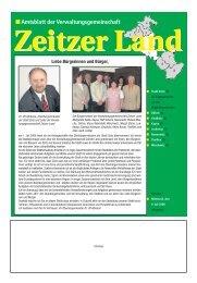 Amtsblatt der Verwaltungsgemeinschaft - Stadt Zeitz