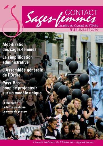 Contact Sages-Femmes n° 24 - Ordre des sages-femmes