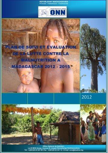 Plan de suivi et évaluation de la lutte contre la malnutrition à ...