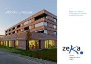 Prospekt Wohnhaus Aargau - zeka, Zentren körperbehinderte Aargau